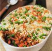 Parmentier aux légumes et riz